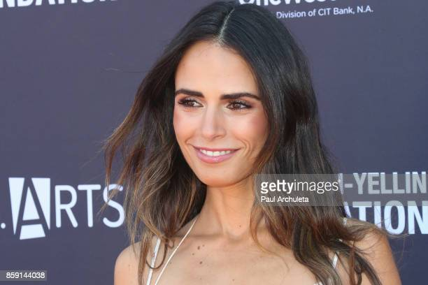 Actress Jordana Brewster attends PS ARTS' Express Yourself 2017 event at Barker Hangar on October 8 2017 in Santa Monica California