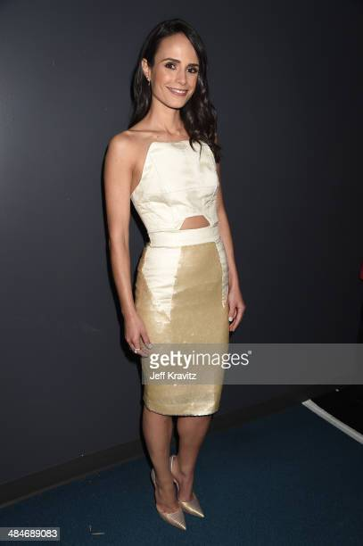 Actress Jordana Brewster attends the 2014 MTV Movie Awards at Nokia Theatre LA Live on April 13 2014 in Los Angeles California