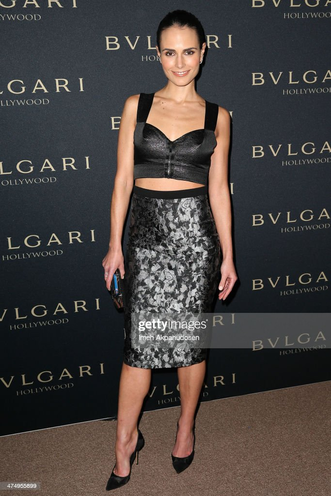 Actress <a gi-track='captionPersonalityLinkClicked' href=/galleries/search?phrase=Jordana+Brewster&family=editorial&specificpeople=207174 ng-click='$event.stopPropagation()'>Jordana Brewster</a> attends the BVLGARI 'Decades of Glamour' Oscar Party at Soho House on February 25, 2014 in West Hollywood, California.