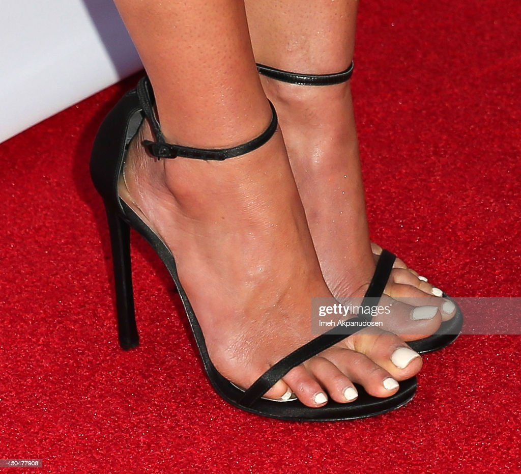 Actress <a gi-track='captionPersonalityLinkClicked' href=/galleries/search?phrase=Jordana+Brewster&family=editorial&specificpeople=207174 ng-click='$event.stopPropagation()'>Jordana Brewster</a> (shoe detail) attends the Pathway To The Cures For Breast Cancer fundraiser benefiting Susan G. Komen presented by Relativity Media and Pathway Genomics at Santa Monica Airport on June 11, 2014 in Santa Monica, California.