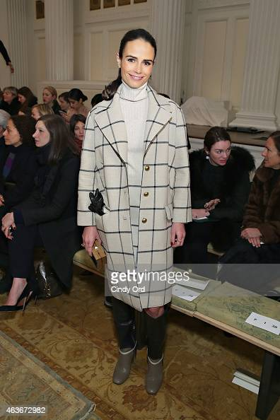 Actress Jordana Brewster attends the Tory Burch fashion show during MercedesBenz Fashion Week Fall 2015 at 583 Park Avenue on February 17 2015 in New...