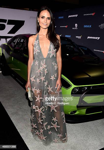 Actress Jordana Brewster attends Universal Pictures' 'Furious 7' premiere at TCL Chinese Theatre on April 1 2015 in Hollywood California