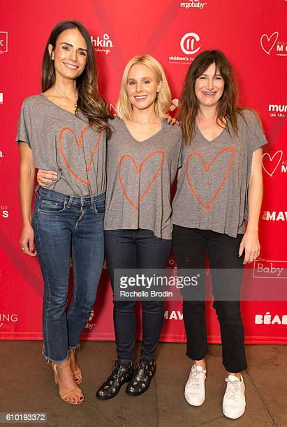Actress Jordana Brewster Kristen Bell and Kathryn Hahn attend the Alliance of Moms Raising Baby charity event at Children's Institute on September 24...