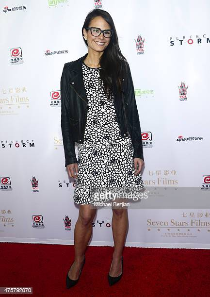 Actress Jordana Brewster poses for portrait at Bruno Wu and Seven Stars Entertainment Sponsor TCL Chinese Theatre Handprints For Director Justin Lin...