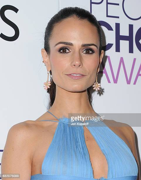Actress Jordana Brewster poses in the press room at the People's Choice Awards 2017 at Microsoft Theater on January 18 2017 in Los Angeles California