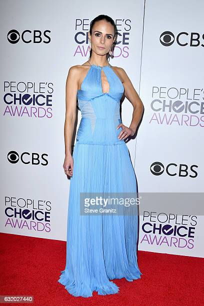 Actress Jordana Brewster poses in the press room during the People's Choice Awards 2017 at Microsoft Theater on January 18 2017 in Los Angeles...