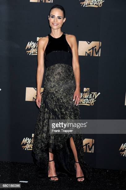 Actress Jordana Brewster posing in the press room during the 2017 MTV Movie And TV Awards at The Shrine Auditorium