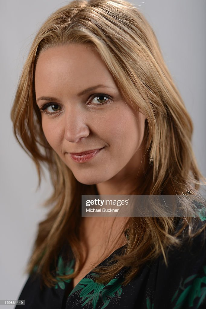 Actress Jordana Spiro poses for a portrait at the photo booth for MSN Wonderwall at ChefDance on January 20, 2013 in Park City, Utah.