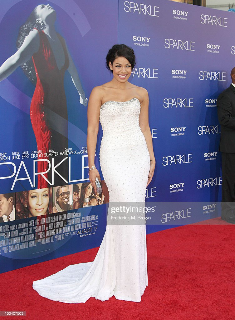 Actress Jordin Sparks attends the Premiere Of Tri-Star Pictures' 'Sparkle' at Grauman's Chinese Theatre on August 16, 2012 in Hollywood, California.