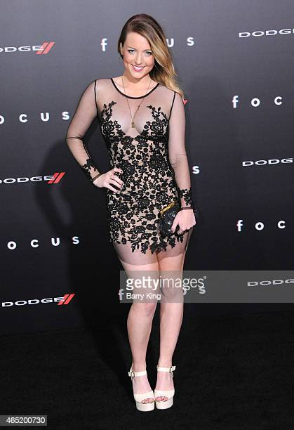 Actress Jordy Lucas arrives at the Los Angeles World Premiere Of Warner Bros Pictures 'Focus' at TCL Chinese Theatre on February 242015 in Hollywood...