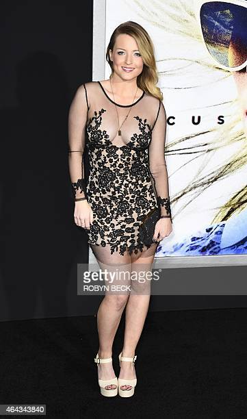 Actress Jordy Lucas arrives for the Los Angeles premiere of Warner Bros 'Focus' February 24 2015 at TCL Chinese Theater in Hollywood California AFP...