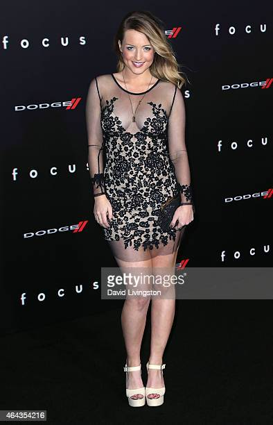Actress Jordy Lucas attends the premiere of Warner Bros Pictures' 'Focus' at the TCL Chinese Theater on February 24 2015 in Hollywood California