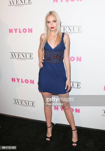 Actress Jordyn Jones attends NYLON's annual Young Hollywood May issue event with cover Star Rowan Blanchard at Avenue on May 2 2017 in Los Angeles...