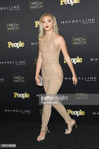 Actress Jordyn Jones attends People's 'Ones To Watch' at EP LP on October 13 2016 in West Hollywood California