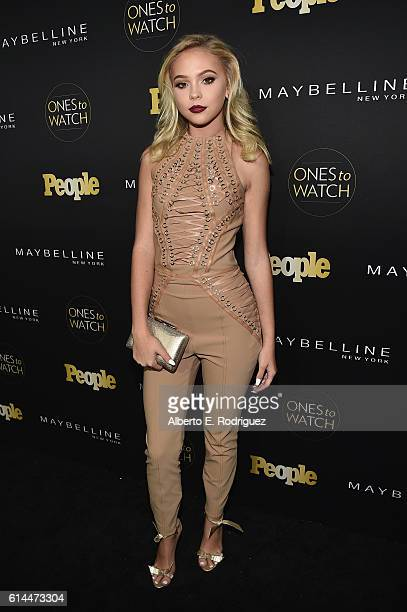 Actress Jordyn Jones attends People's 'Ones to Watch' event presented by Maybelline New York at EP LP on October 13 2016 in Hollywood California