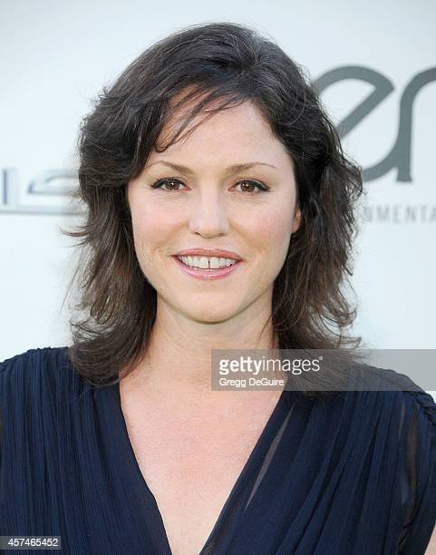 Actress Jorja Fox arrives at the 2014 Environmental Media Awards at Warner Bros Studios on October 18 2014 in Burbank California