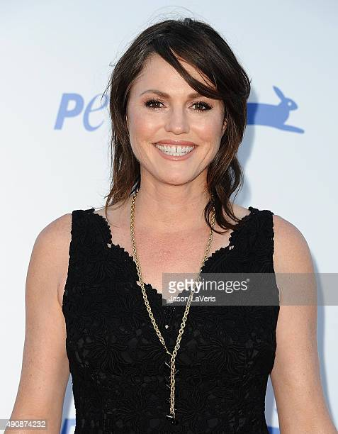 Actress Jorja Fox attends PETA's 35th anniversary party at Hollywood Palladium on September 30 2015 in Los Angeles California