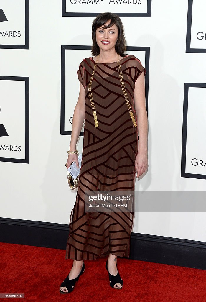Actress Jorja Fox attends the 56th GRAMMY Awards at Staples Center on January 26, 2014 in Los Angeles, California.