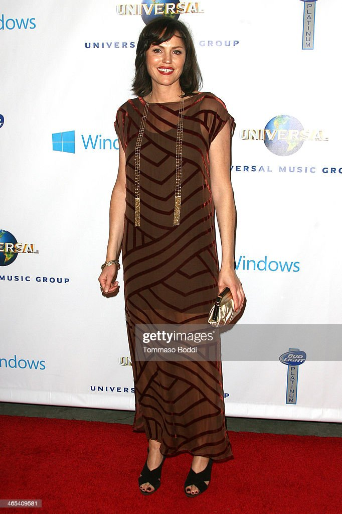 Actress <a gi-track='captionPersonalityLinkClicked' href=/galleries/search?phrase=Jorja+Fox&family=editorial&specificpeople=209197 ng-click='$event.stopPropagation()'>Jorja Fox</a> attends the Universal Music Group 2014 post GRAMMY party held at The Ace Hotel Theater on January 26, 2014 in Los Angeles, California.