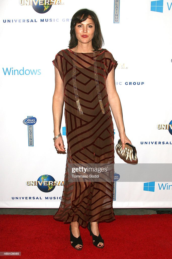Actress Jorja Fox attends the Universal Music Group 2014 post GRAMMY party held at The Ace Hotel Theater on January 26, 2014 in Los Angeles, California.
