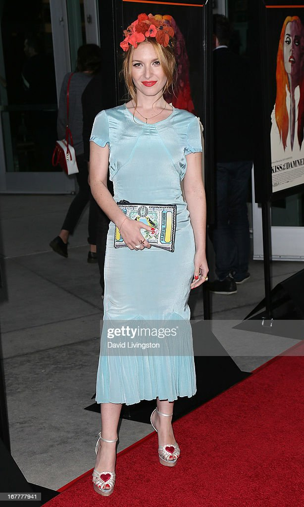 Actress Josephine de La Baume attends a screening of Magnolia Pictures' 'Kiss of the Damned' at ArcLight Cinemas on April 29, 2013 in Hollywood, California.