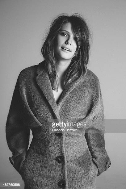 Actress Josephine Japy is photographed for Self Assignment on October 11 2014 in Paris France