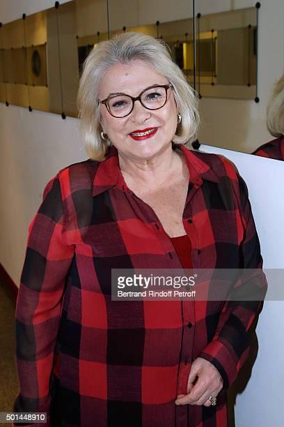 Actress Josiane Balasko presents the Movie 'Arrete ton cinema ' during the 'Vivement Dimanche' French TV Show at Pavillon Gabriel on December 15 2015...