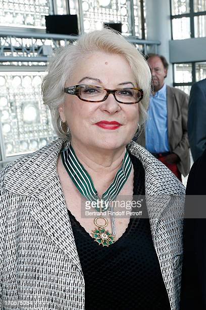 Actress Josiane Balasko receives the Medal of Arts and Letters at Arab World Institute on June 14 2013 in Paris France