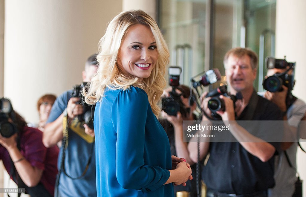 Actress Josie Bissett attends Hallmark Channel and Hallmark Movie Channel's '2013 Summer TCA' Press Gala at The Beverly Hilton Hotel on July 24, 2013 in Beverly Hills, California.