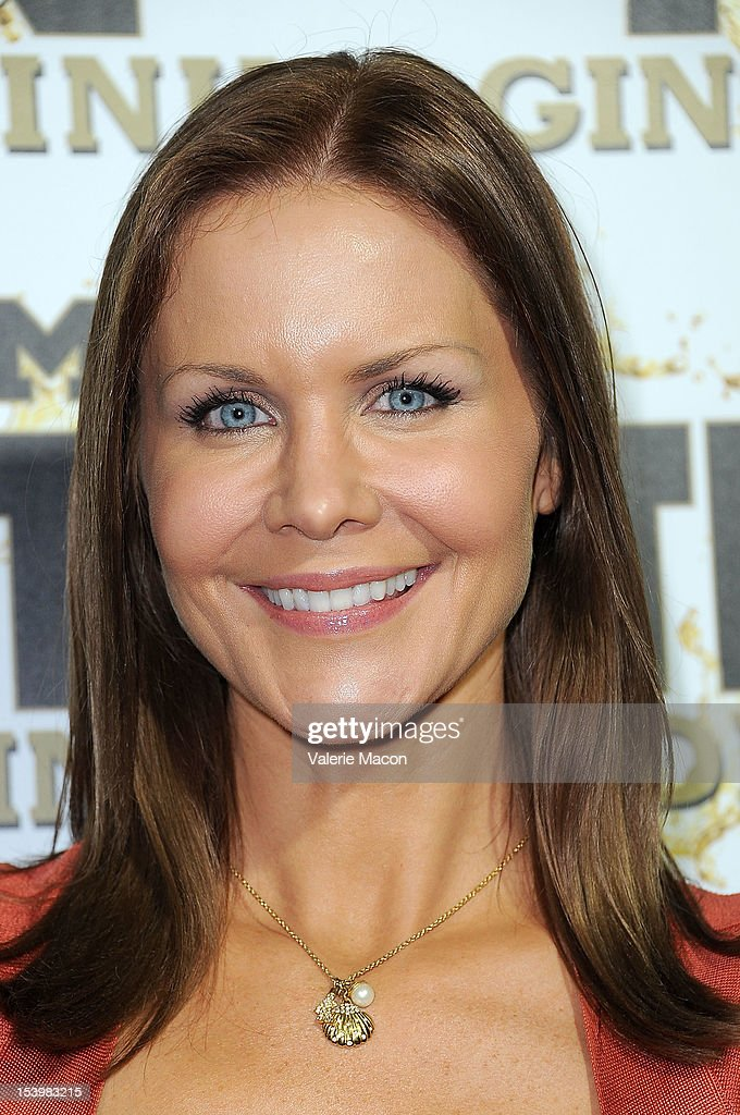 Actress Josie Davis arrives at Mr. Pink Ginseng Drink Launch Party on October 11, 2012 in Beverly Hills, California.