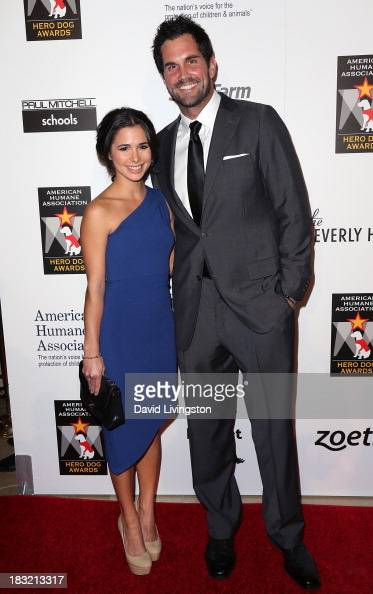 Actress Josie Loren and football player Matt Leinert attend the 3rd Annual American Humane Association Hero Dog Awards at The Beverly Hilton Hotel on...