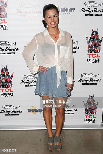 Actress Josie Loren arrives at the HollyShorts screening of 'Chocolate Milk' at TCL Chinese Theatre on June 19 2014 in Hollywood California