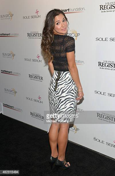 Actress Josie Loren attends the Matt Leinart Foundation's 8th Annual Celebrity Bowl at Lucky Strike Bowling Alley on July 17 2014 in Hollywood...