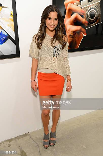 Actress Josie Loren attends Tyler Shields debut of MOUTHFUL presented by A/X Armani Exchange in support of LOVE IS LOUDER at a Private Studio on May...