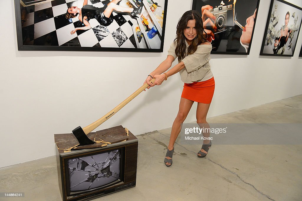 Actress Josie Loren attends Tyler Shields debut of MOUTHFUL presented by A/X Armani Exchange in support of LOVE IS LOUDER at a Private Studio on May 19, 2012 in Los Angeles, California.