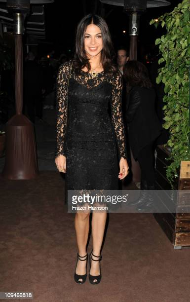 Actress Josie Maran arrives at the Chanel and Charles Finch PreOscar Dinner at Madeo Restaurant on February 26 2011 in Los Angeles California