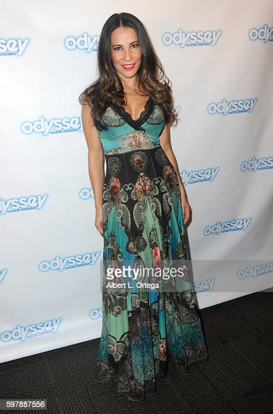 Actress Jossara Jinaro arrives for the Reading Of 'The Blade Of Jealousy/La Celsa De Misma' held at The Odyssey Theatre on August 29 2016 in Los...