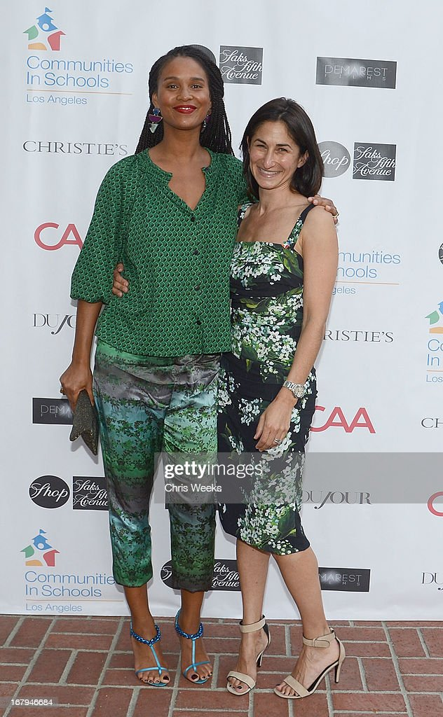 Actress <a gi-track='captionPersonalityLinkClicked' href=/galleries/search?phrase=Joy+Bryant&family=editorial&specificpeople=207047 ng-click='$event.stopPropagation()'>Joy Bryant</a> and Deborah Marcus attend the Communities In Schools 'School Life' Gala at a Private Residence on May 2, 2013 in Beverly Hills, California.