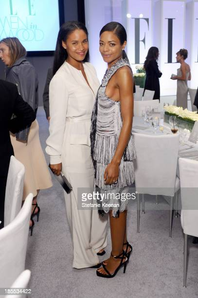 Actress Joy Bryant and honoree Naomie Harris attend ELLE's 20th Annual Women In Hollywood Celebration at Four Seasons Hotel Los Angeles at Beverly...