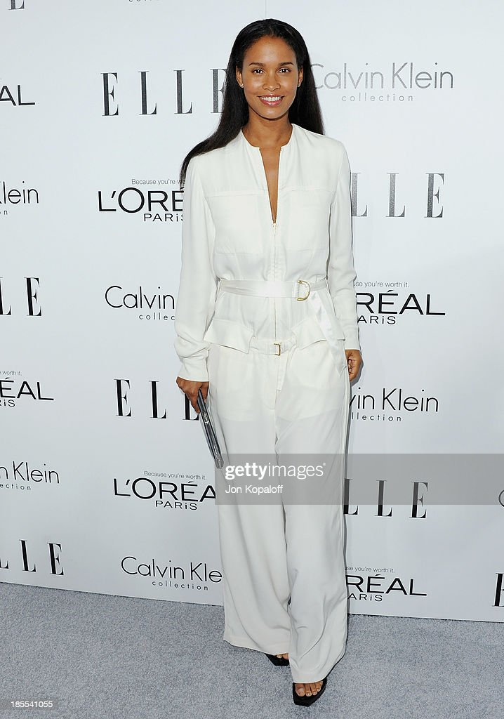 Actress <a gi-track='captionPersonalityLinkClicked' href=/galleries/search?phrase=Joy+Bryant&family=editorial&specificpeople=207047 ng-click='$event.stopPropagation()'>Joy Bryant</a> arrives at ELLE Celebrates 20th Annual Women In Hollywood Event at Four Seasons Hotel Los Angeles at Beverly Hills on October 21, 2013 in Beverly Hills, California.