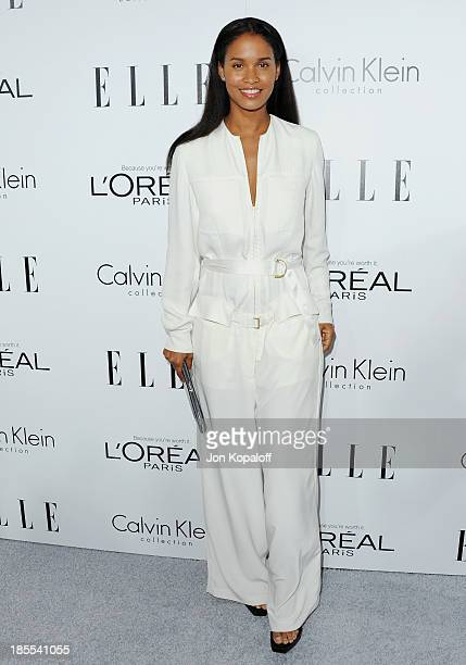 Actress Joy Bryant arrives at ELLE Celebrates 20th Annual Women In Hollywood Event at Four Seasons Hotel Los Angeles at Beverly Hills on October 21...