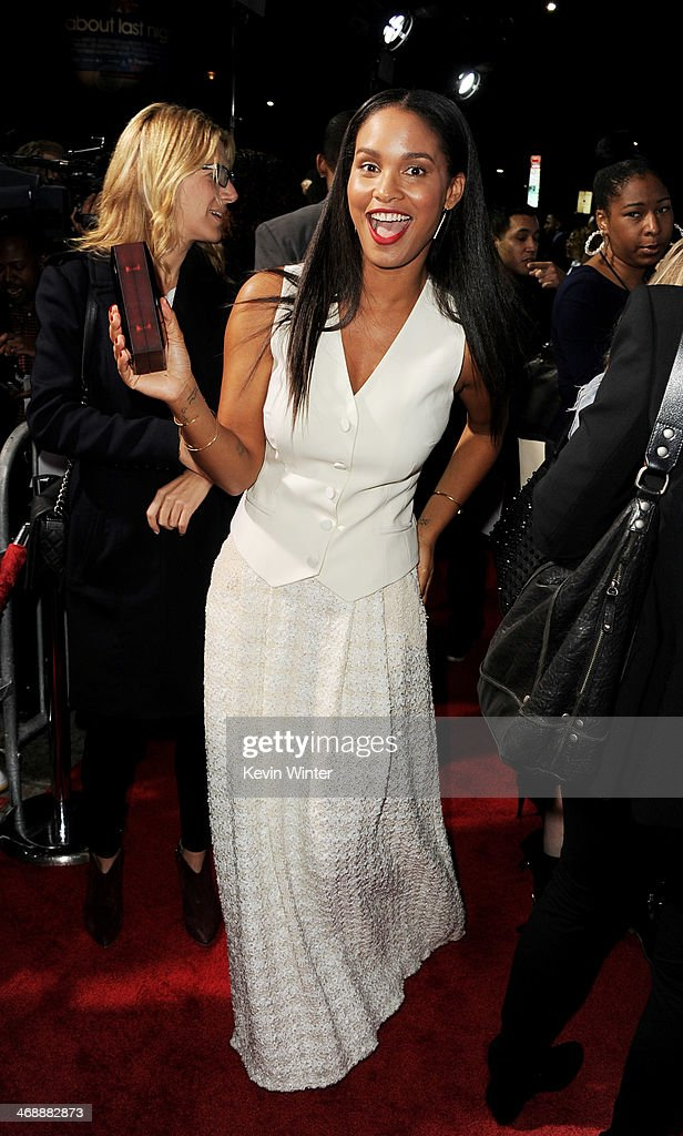 Actress <a gi-track='captionPersonalityLinkClicked' href=/galleries/search?phrase=Joy+Bryant&family=editorial&specificpeople=207047 ng-click='$event.stopPropagation()'>Joy Bryant</a> arrives at the Pan African Film & Arts Festival Premiere of Screen Gems' 'About Last Night' at the Cinerama Dome Theatre on February 11, 2014 in Los Angeles, California.