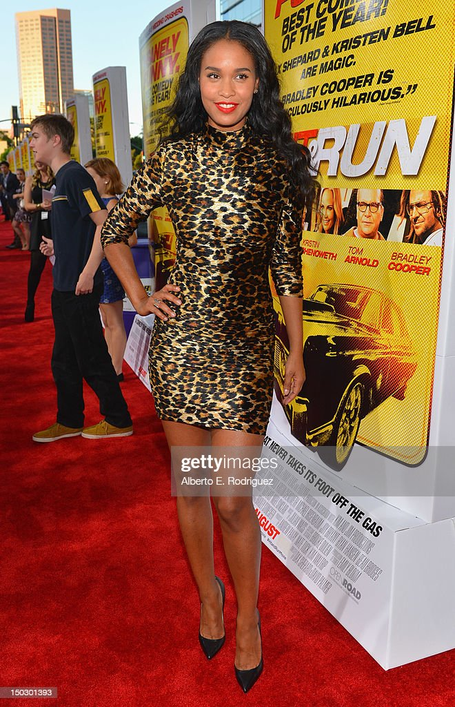 Actress Joy Bryant arrives to the premiere of Open Road Films' 'Hit and Run' on August 14, 2012 in Los Angeles, California.