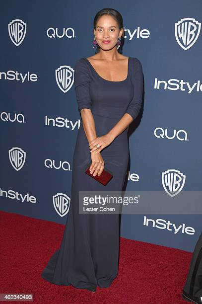 Actress Joy Bryant attends the 2014 InStyle And Warner Bros 71st Annual Golden Globe Awards PostParty held at The Beverly Hilton Hotel on January 12...