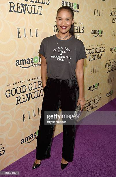 Actress Joy Bryant attends the Amazon red carpet premiere screening of the original drama series Good Girls Revolt at Hearst Tower on October 18 2016...