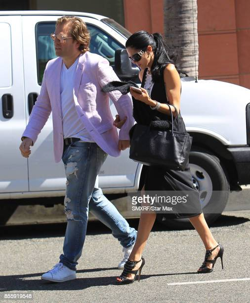 Actress Joyce Giraud and husband Michael Ohoven are seen on September 29 2017 in Los Angeles California