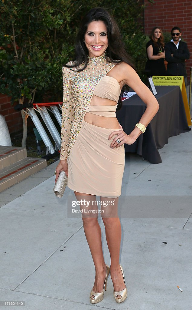 Actress Joyce Giraud attends a fashion fundraiser benefitting Children's Hospital of Los Angeles hosted by Kyle Richards at Kyle by Alene Too on June 26, 2013 in Beverly Hills, California.