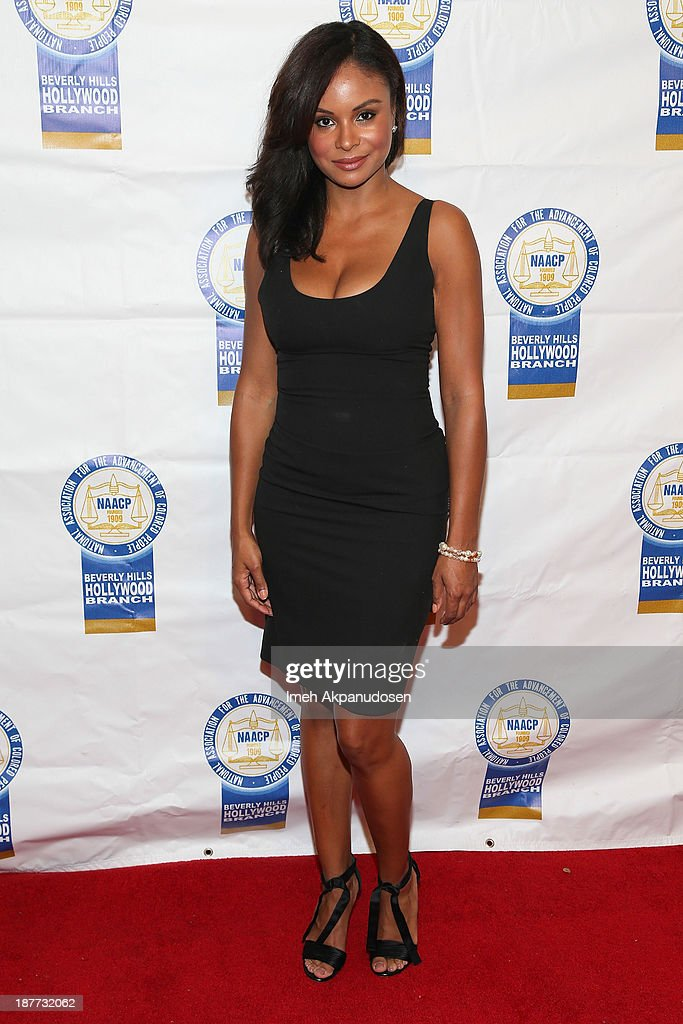 Actress Joyful Drake attends the 23rd Annual NAACP Theatre Awards at Saban Theatre on November 11, 2013 in Beverly Hills, California.