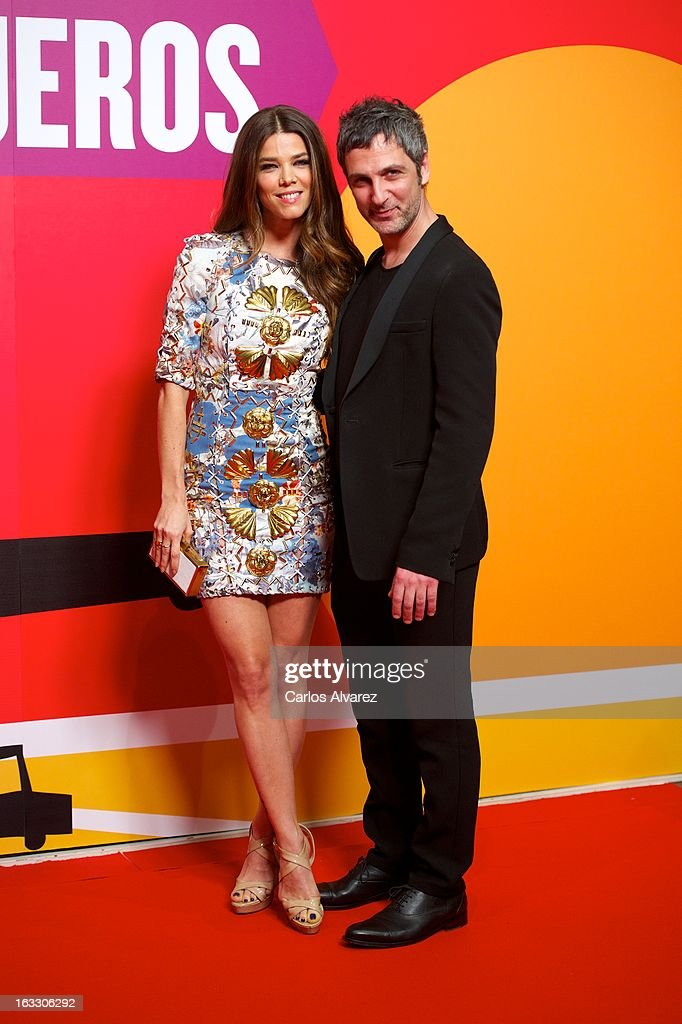 Actress Juana Acosta and Ernesto Alterio attend 'Los Amantes Pasajeros' premiere party at Casino de Madrid on March 7, 2013 in Madrid, Spain.