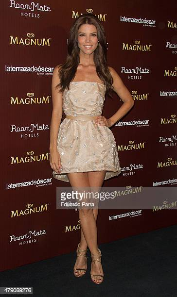 Actress Juana Acosta attends dipping party by Magnum photocall at Oscar hotel on June 30 2015 in Madrid Spain